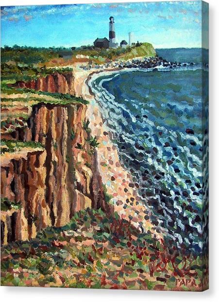 Dunes At Montauk Canvas Print by Ralph Papa