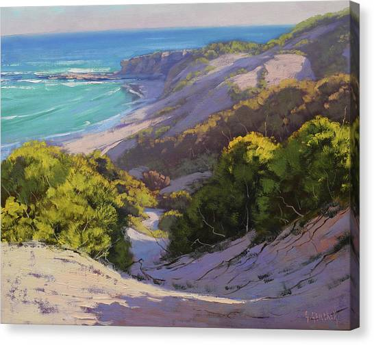 Beautiful Nature Canvas Print - Dunes At Soldiers Beach by Graham Gercken