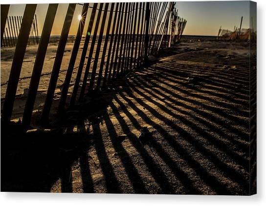 Northwestern University Canvas Print - Dunes Shadows  by Sven Brogren