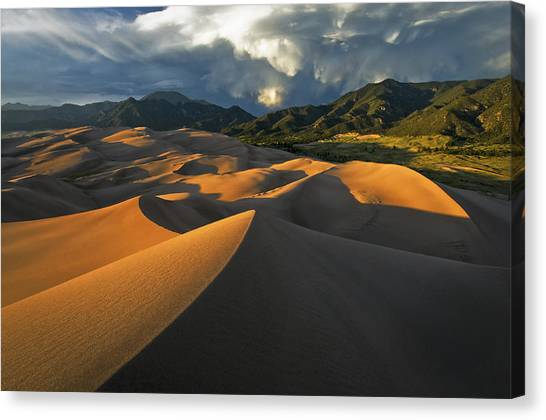 Dunescape Monsoon Canvas Print by Joseph Rossbach