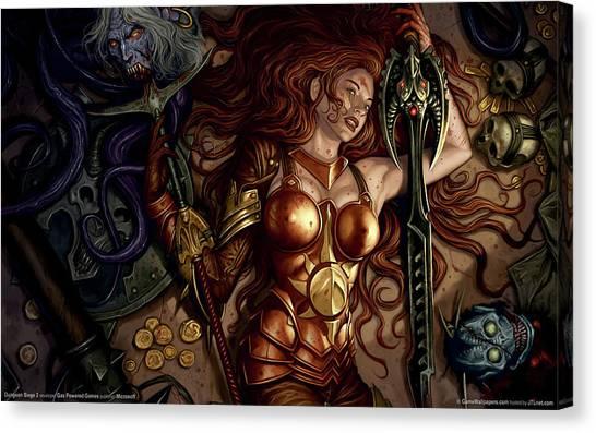 Dungeon Canvas Print - Dungeon Siege II by Maye Loeser