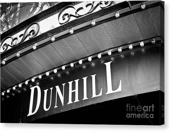 Dunhill Bw Canvas Print