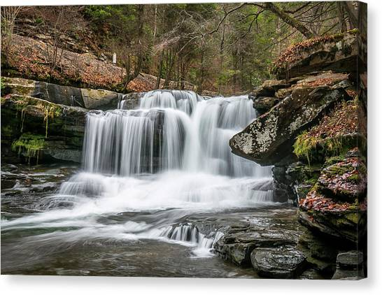 Dunloup Creek Falls Canvas Print