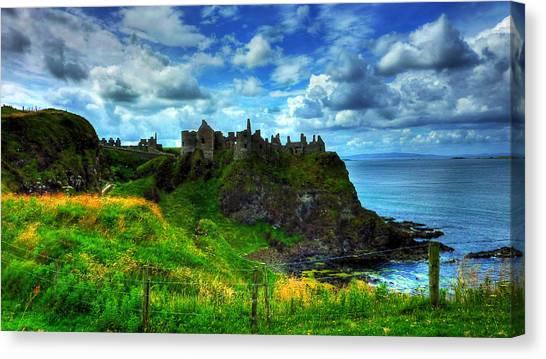 Dunluce Castle Canvas Print by Kim Shatwell-Irishphotographer