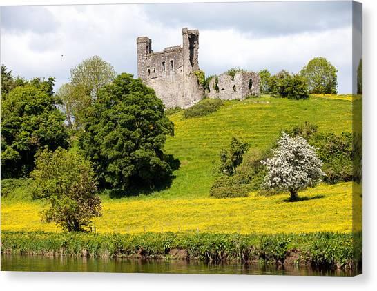 Dunmoe Castle Canvas Print by Peter McCabe