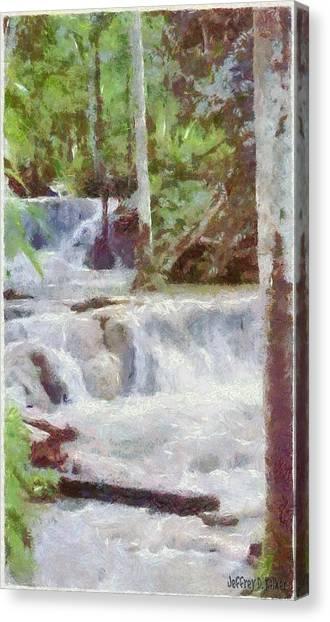 Carribbean Canvas Print - Dunn River Falls by Jeffrey Kolker