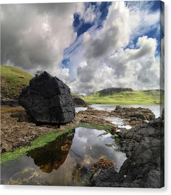 Scotland Canvas Print - Duntulm by Jerry LoFaro