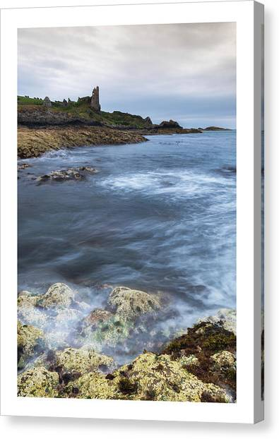 Castle Canvas Print - Dunure Castle Scotland  by Mark Mc neill