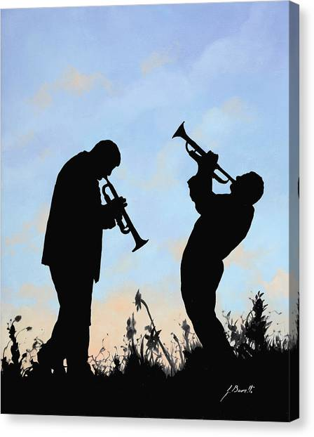 Trumpets Canvas Print - duo by Guido Borelli