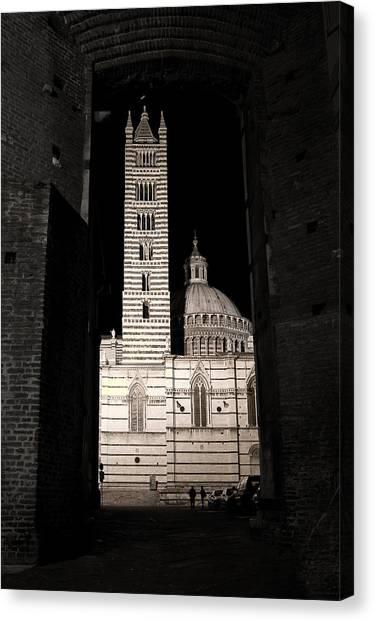 Duomo Di Siena Canvas Print by Carl Jackson
