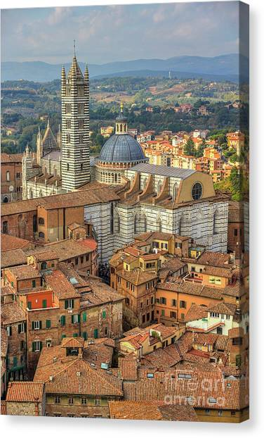 Canvas Print featuring the photograph Duomo Di Siena by Spencer Baugh