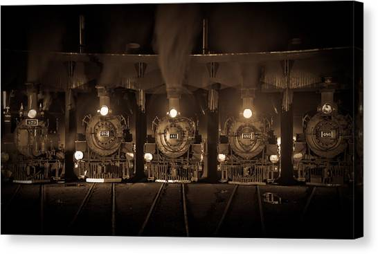 Durango Roundhouse Canvas Print by Patrick  Flynn
