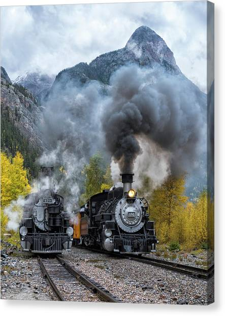 Durango Silverton Train Canvas Print