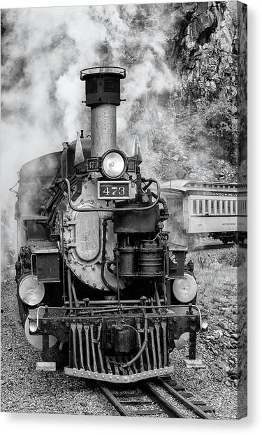 Durango Silverton Train Engine Canvas Print