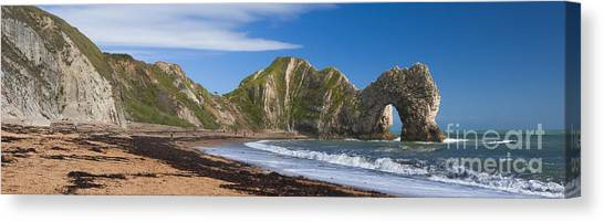 Durdle Door Dorset Uk Canvas Print by Donald Davis