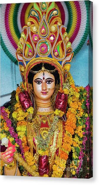 Hindu Goddess Canvas Print - Durga by Tim Gainey