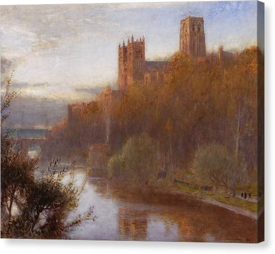 Romanesque Art Canvas Print - Durham Cathedral by Albert Goodwin