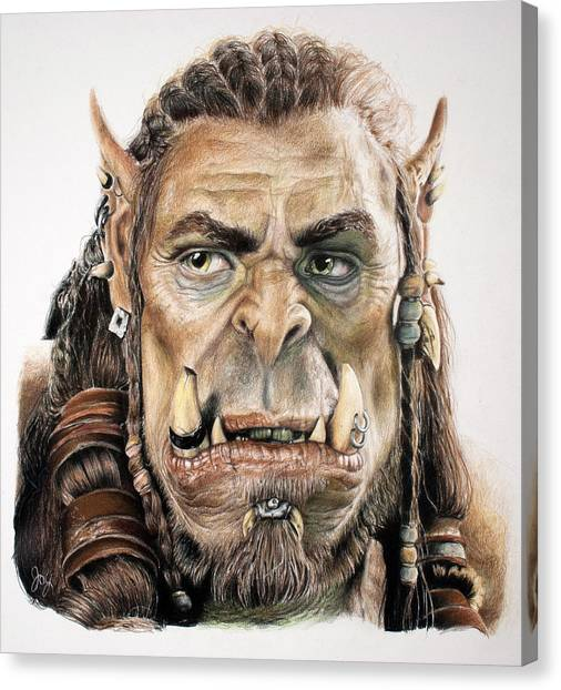 World Of Warcraft Canvas Print - Durotan, Warcraft Movie by Joy Eason