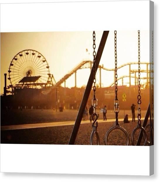 Scotty Canvas Print - Dusk @ Santa Monica Pier 🌅 by Scotty Brown
