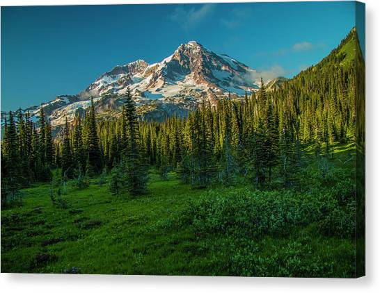 Dusk At Indian Henry Campground Canvas Print