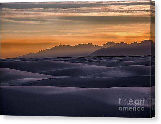 Dusk At White Sands Canvas Print