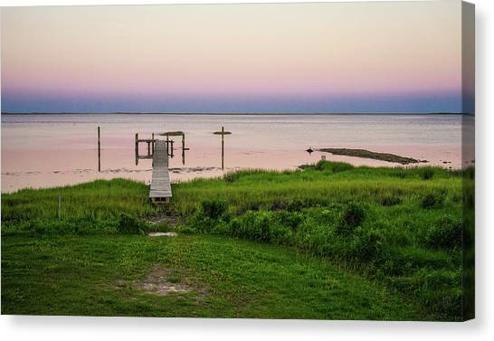Dusk At Battle Point, Accomac, Virginia Canvas Print