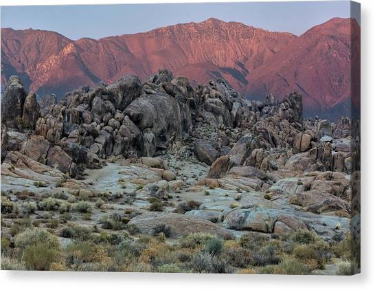 Canvas Print featuring the photograph Dusk In The Alabama Hills by Stuart Gordon
