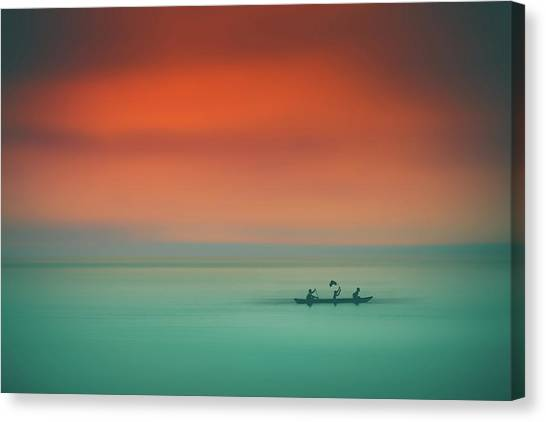 Dusk On The Lake Canvas Print