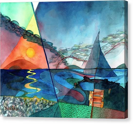 Dusk Over The Chesapeake Canvas Print