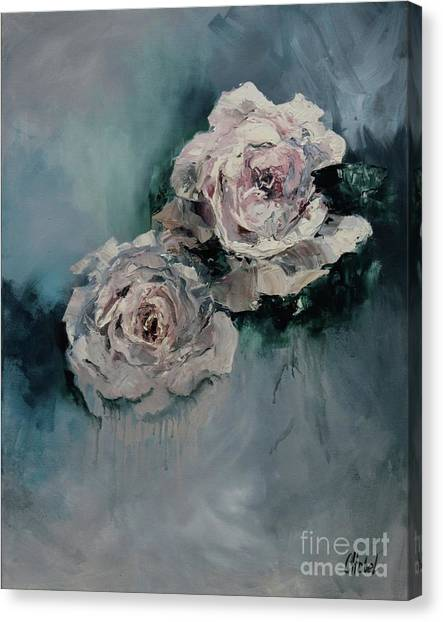 Dusky Roses Canvas Print