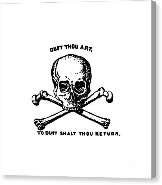 T-bone Canvas Print - Dust To Dust Tee Black Ink by Edward Fielding