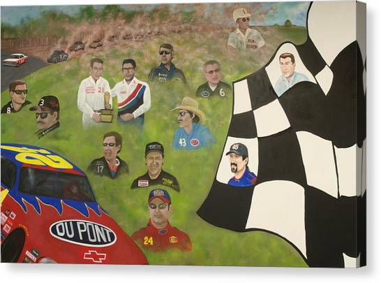 Dale Earnhardt Jr Canvas Print - Dust To Glory by Charles Hill