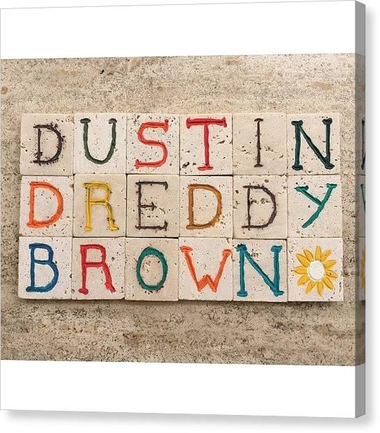 Tennis Players Canvas Print - Dustin dreddy Brown, Professional by Adriano La Naia