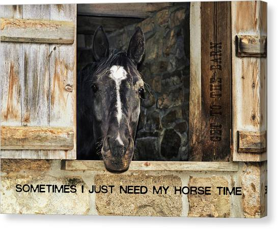Dutch Door Quote Canvas Print