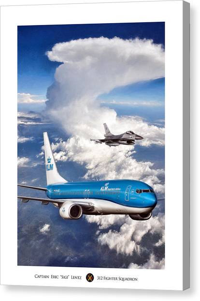 F16 Canvas Print - Dutch Duo by Peter Chilelli