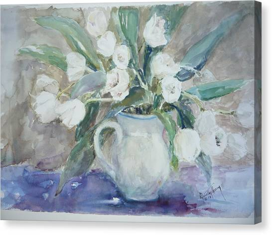 Dutch Tulips Canvas Print by Dorothy Herron