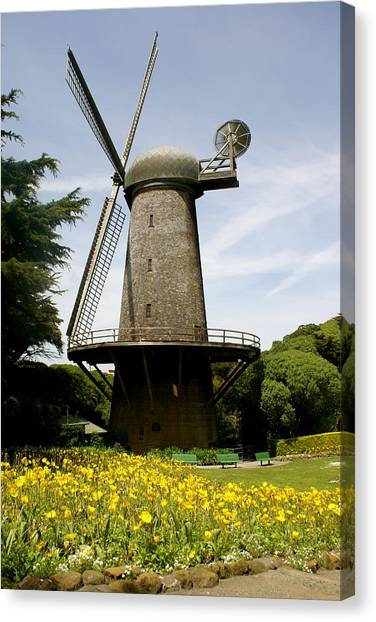 Dutch Windmill Canvas Print by Sonja Anderson