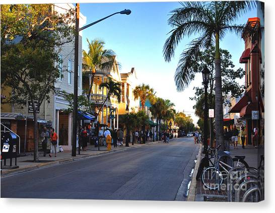 Duval Street In Key West Canvas Print