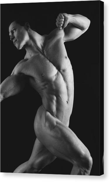 Male Nudes Canvas Print - Dwain Leland 1 by Thomas Mitchell