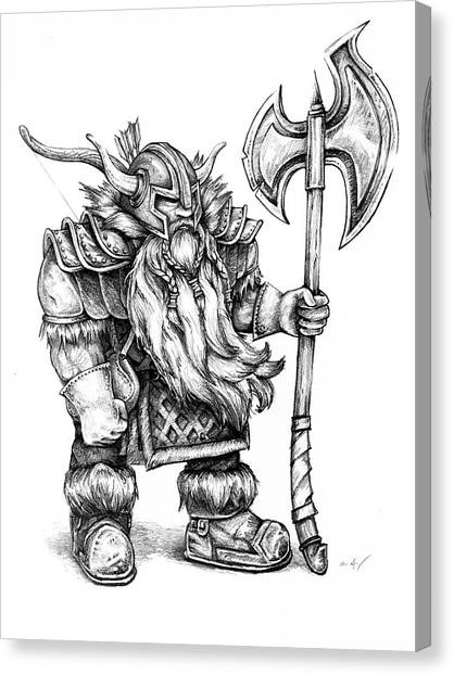 World Of Warcraft Canvas Print - Dwarf by Aaron Spong
