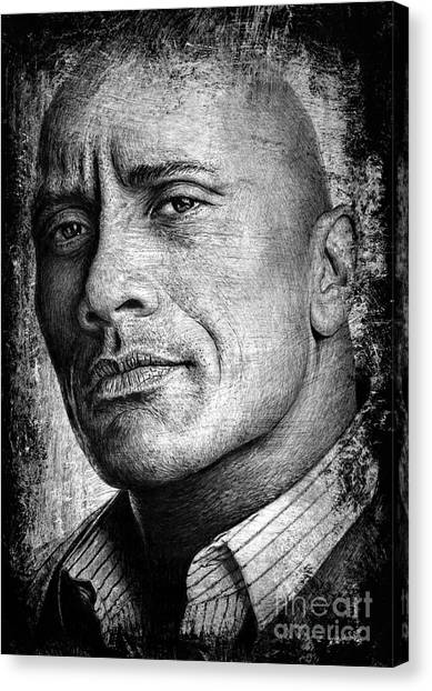 Dwayne Johnson Canvas Print - Dwayne Johnson by Andrew Read