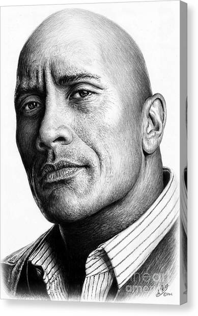 Dwayne Johnson Canvas Print - Dwayne The Rock Johnson by Andrew Read