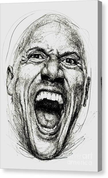 Dwayne Johnson Canvas Print - Dwayne The Rock Johnson by Michael Volpicelli
