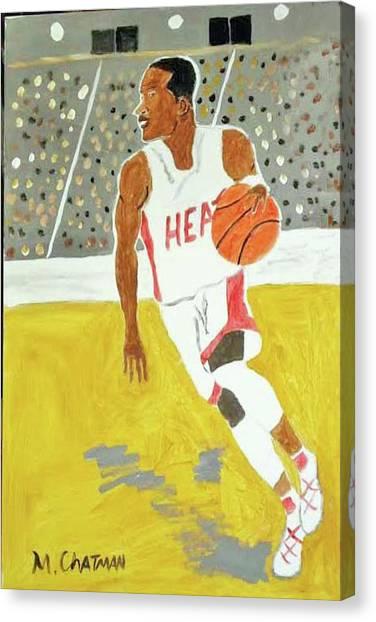 Dwayne Wade Canvas Print - Dwayne Wade by Michael Chatman