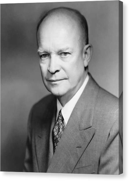 U. S. Presidents Canvas Print - Dwight Eisenhower by War Is Hell Store