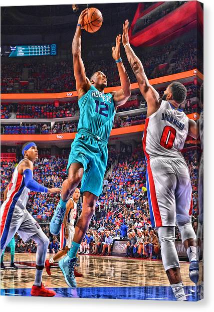 Dwight Howard Canvas Print - Dwight Howard Charlotte Hornets Player Art 2 by Joe Hamilton