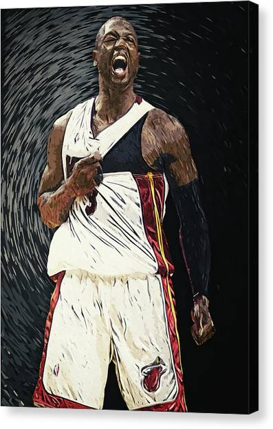 Marquette University Canvas Print - Dwyane Wade by Zapista