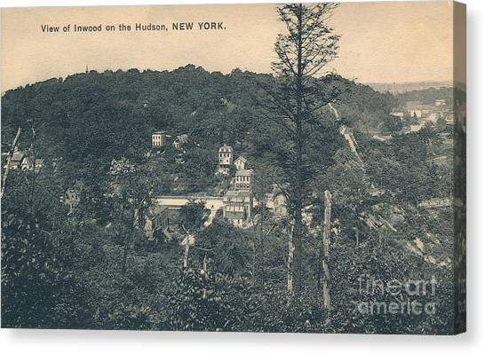 Dyckman Street At Turn Of The Century Canvas Print