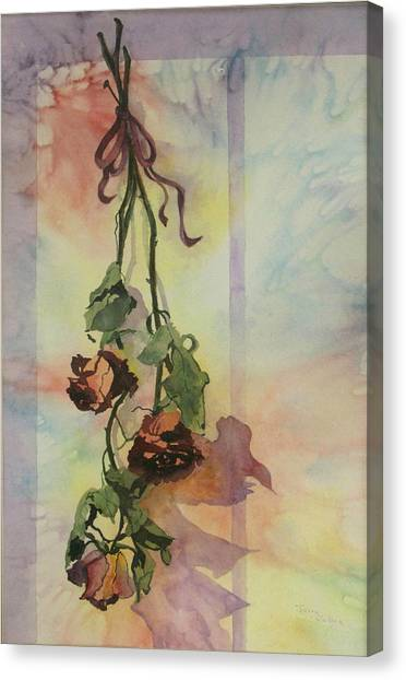 Dying Roses Canvas Print