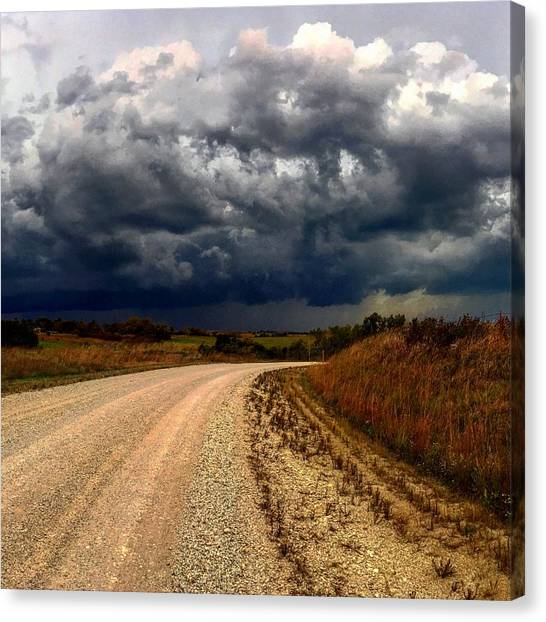 Dying Tornadic Supercell Canvas Print